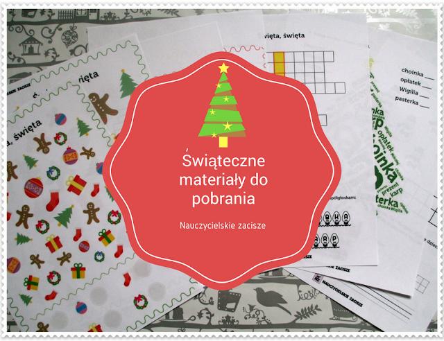 Boże Narodzenie, święta, pomoce dydaktyczne dla dzieci