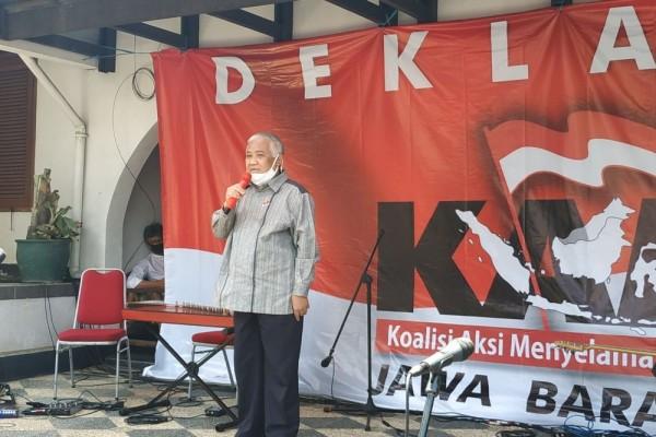 Deklarasi KAMI Jabar, Din Syamsuddin: Pakailah Otak, Jangan Otot!