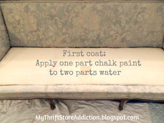 Chalk painted sofa tutorial