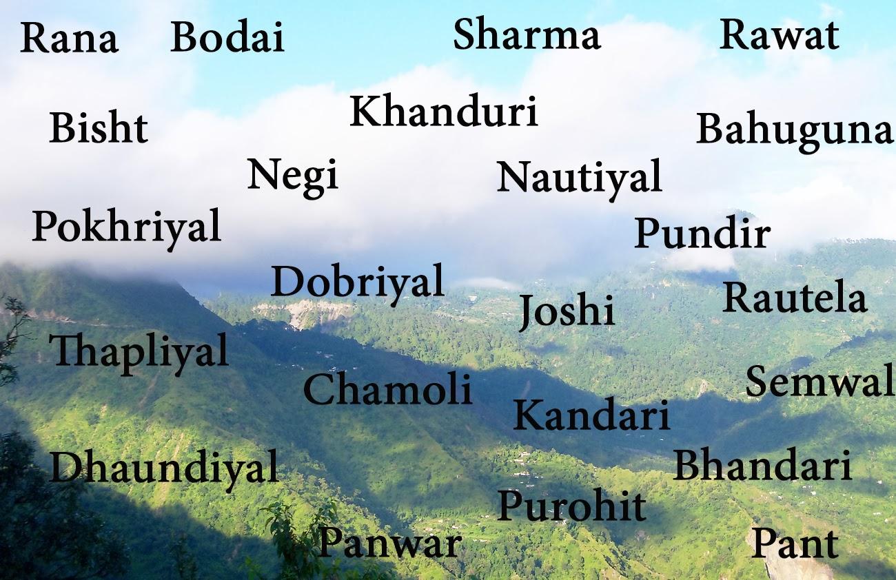 Garwali surnames_DevBhumiUttaranchal