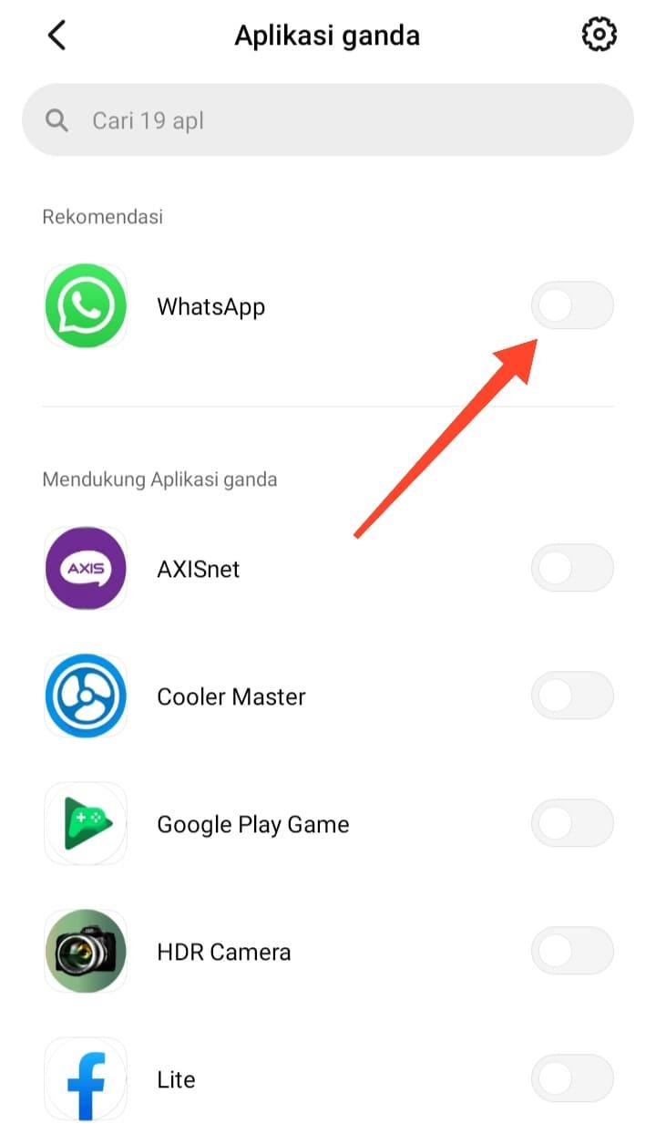 Dua Akun WhatsApp dalam Satu HP