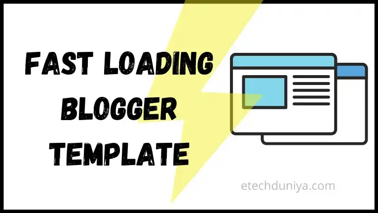 Fast Loading Blogger Template