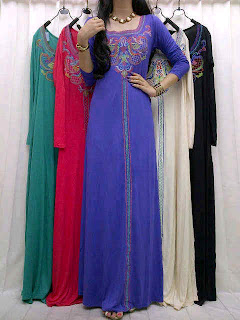 Gamis Bordir Spandex fit to L