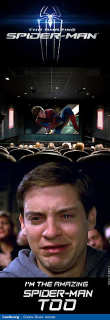 tobey maguire the amazing spiderman joke