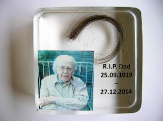 Personalised hair and photo paperweight