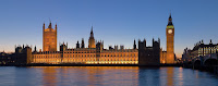 O Palácio de Westminster, em Londres, a sede do parlamento britânico.