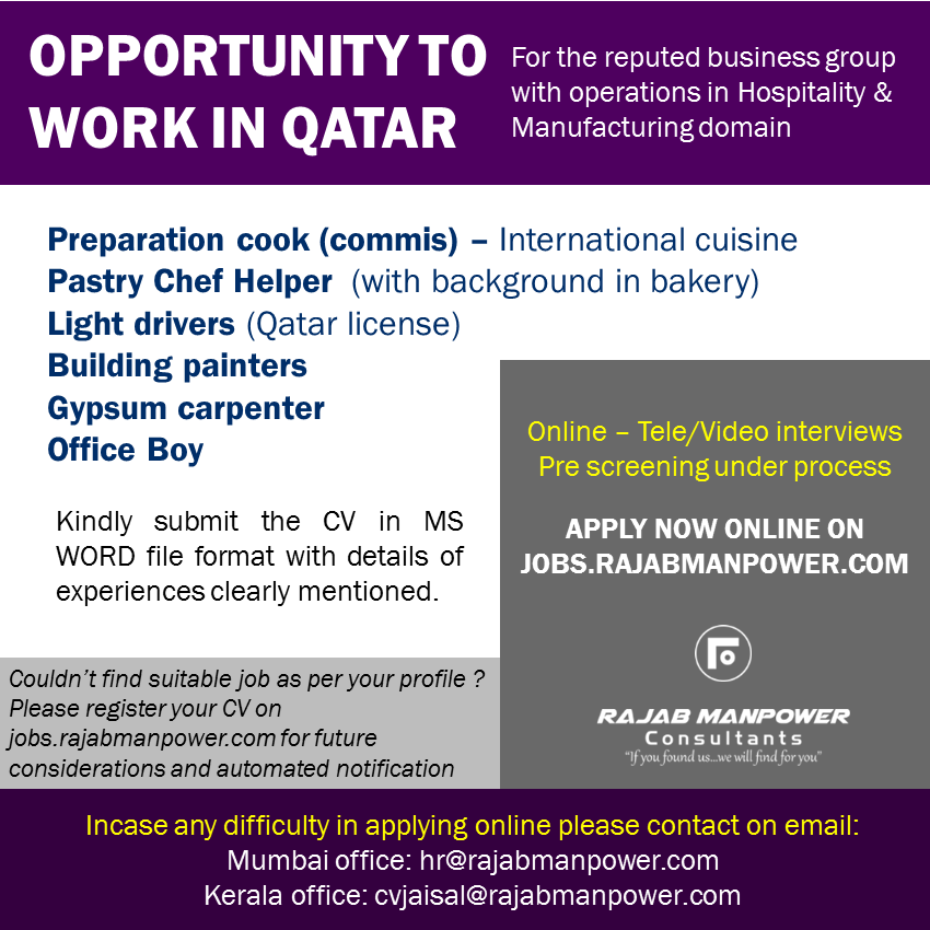 Opportunities Work in Qatar