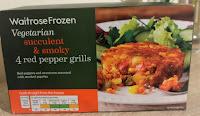 Waitrose vegetarian red pepper grills