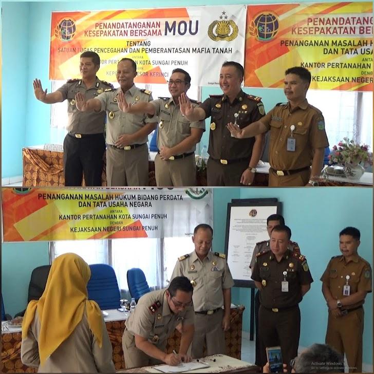 Pertama di Provinsi Jambi, BPN Sungaipenuh Deklarasikan Zona Integritas WBK dan WBBM