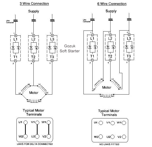 Difference Between Soft Starter In 3 Wire Amp 6 Wire