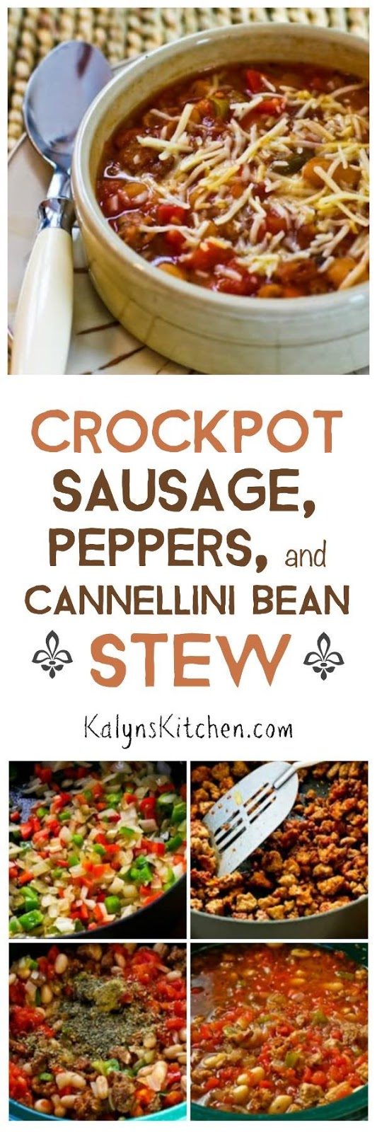 ... ®: Crockpot Sausage, Peppers, and Cannellini Bean Stew with Parmesan