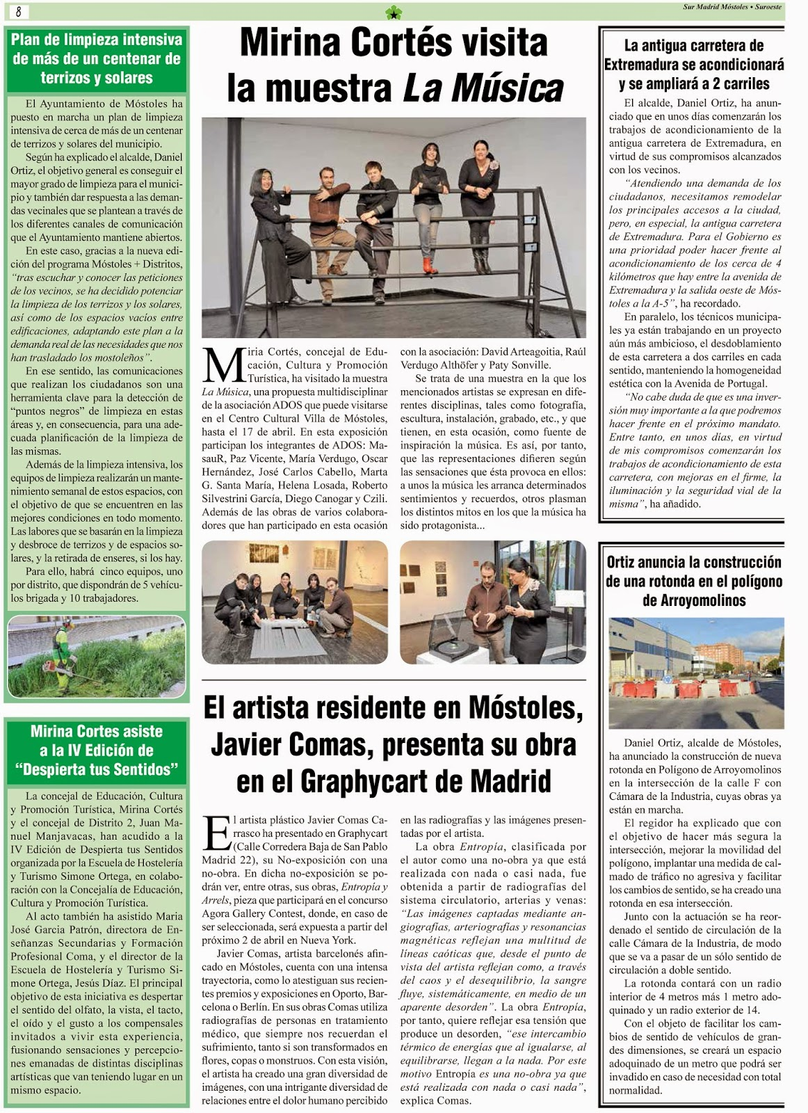 publicacion periodico Sur Madrid