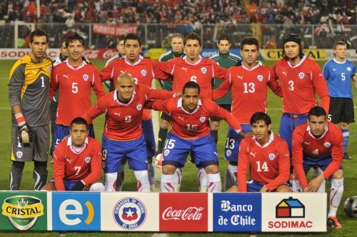 Formación de Chile ante Estonia, amistoso disputado el 19 de junio de 2011