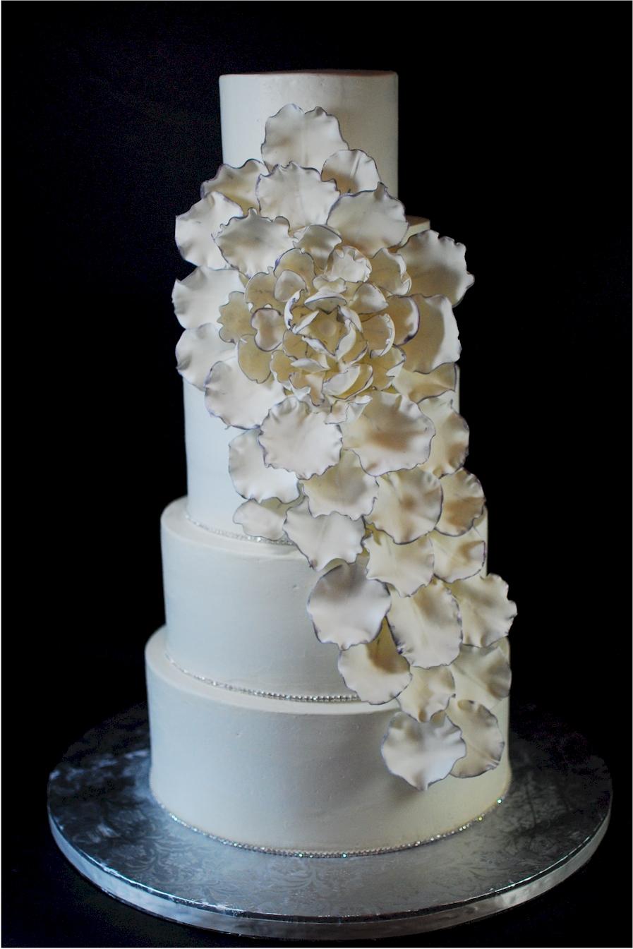 Cup A Dee Cakes Blog Big Flower Petal Explosion Wedding