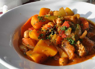 African cocoyam vegetable soup