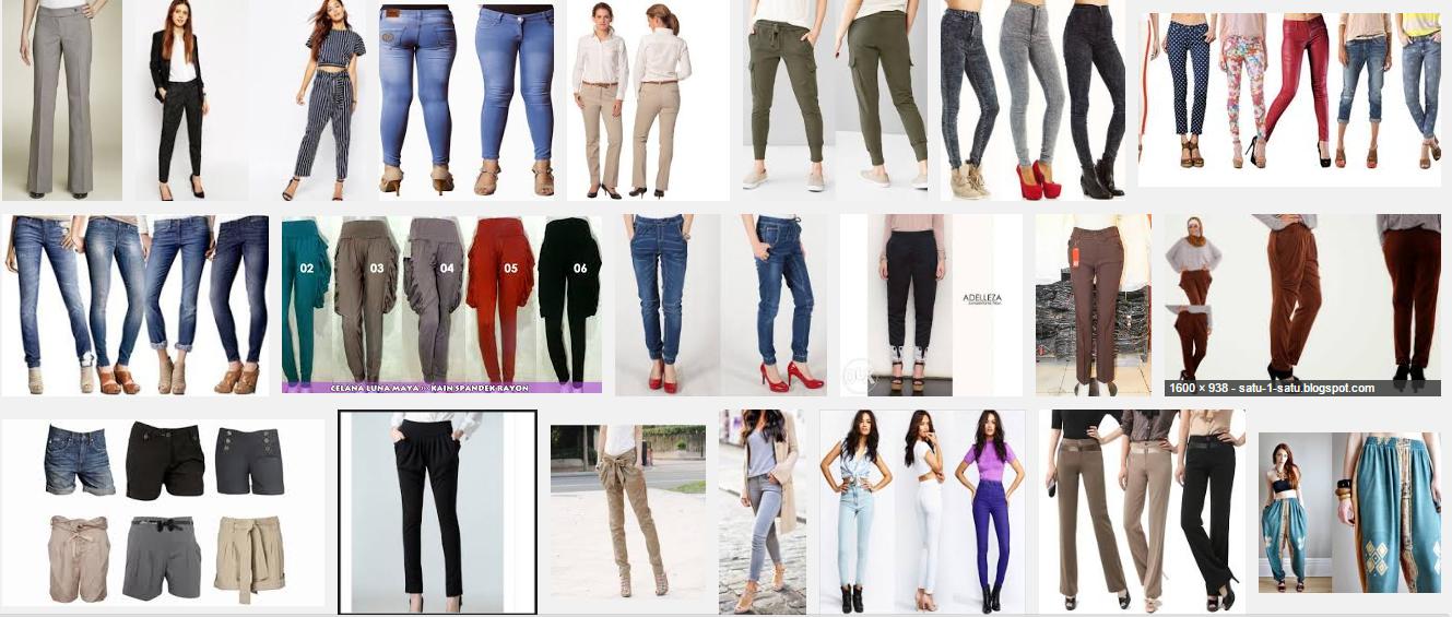 Model celana untuk wanita