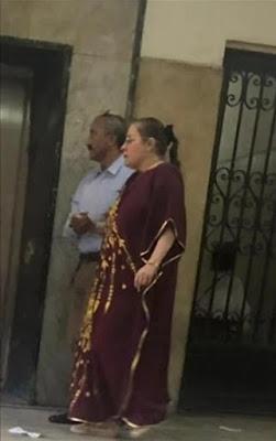 ظهور يصدم جمهور شيرين سيف النصر بوزن زائد وعباءة