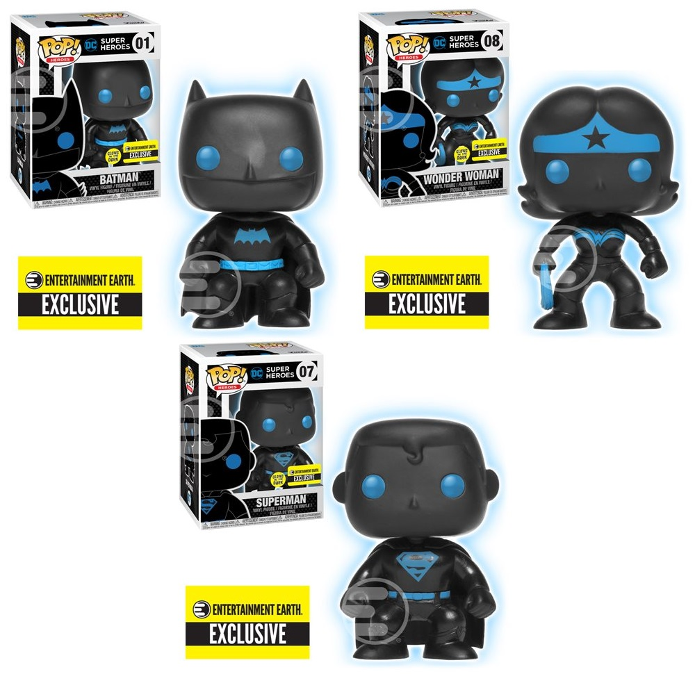 b4e5647b667 Entertainment Earth Exclusive Justice League Silhouette Glow in the Dark  Edition Pop! DC Comics Vinyl