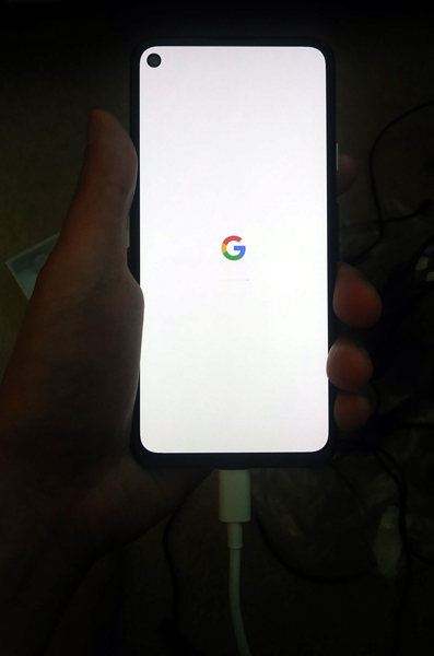 Displaying my new Google Pixel 4a smartphone...on June 1, 2021.