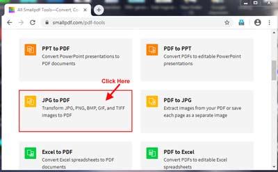 Select JPG to PDF