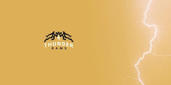 Inspirasi Desain Logo Kreatif 2017 - Thunder Rams Logo Design