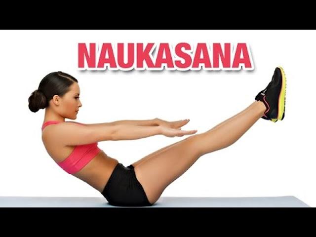 Bài tập yoga đơn giản Naukasana ( Tứ thế thuyền)