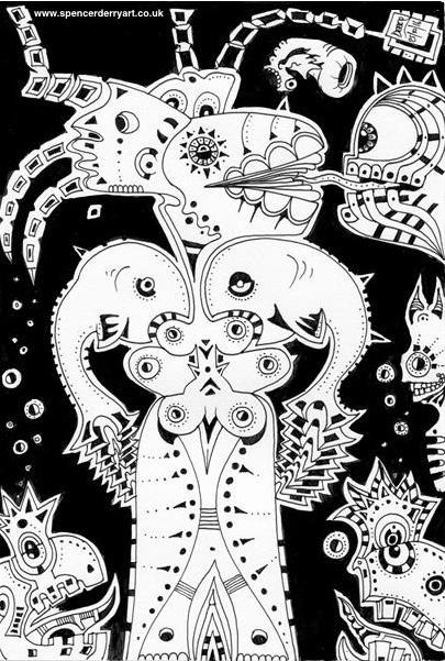 Buy An Original Surrealist Automatism Drawing on Artfinder.