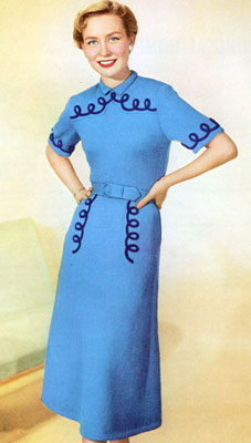 The Vintage Pattern Files : Free 1950's Knitting Pattern - Around the Calendar Dress