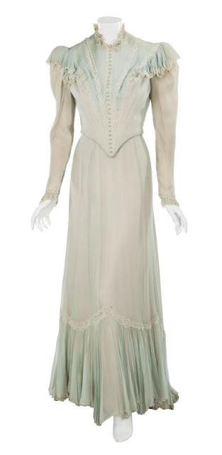 """Gown worn by Jeanne Crain in """"The Fan"""" designed by Rene Hubert, Fox 1949"""