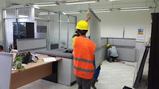 Sekat Kantor Custom Semarang Jawa Tengah + Furniture Semarang ( Sekat Ruang )