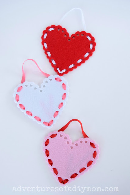 Felt Valentine Treat Pouches