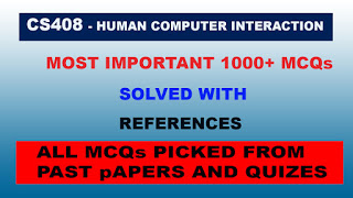 CS408 -Human Computer Interaction HCI Mega MCQs File for final Term
