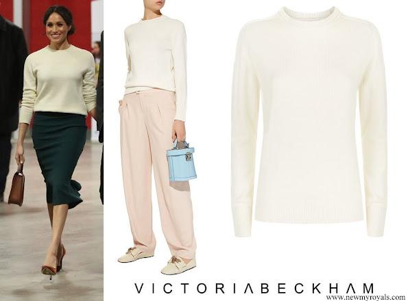 Meghan Markle wore Victoria Beckham Cashmere Sweater