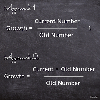 How to calculate Growth %