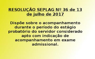 Dispõe sobre o acompanhamento durante o período do estágio probatório do servidor considerado apto com indicação de acompanhamento em exame admissional.