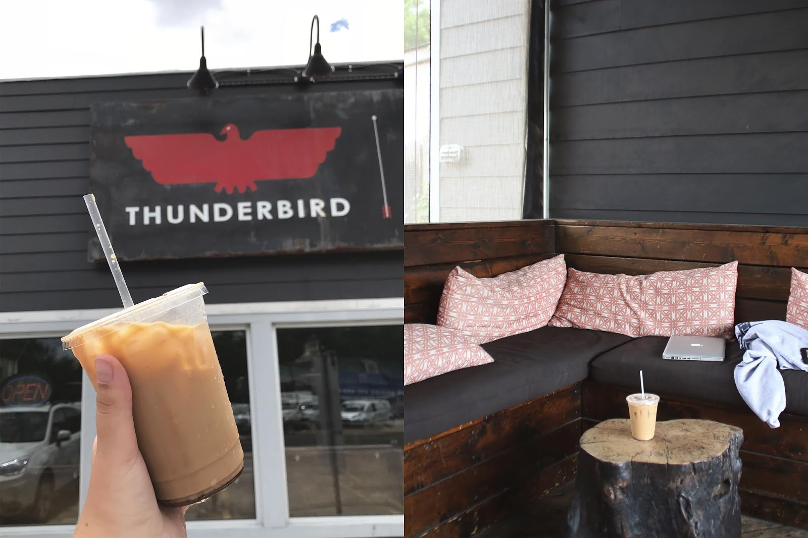 Thunderbird Austin, Iced Coffee, Cozy Coffee Shop, Coffee Shops Vibe