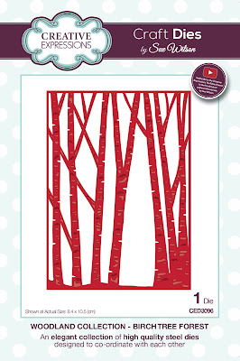 Woodland Collection Birch Tree Forest Die - CED3096