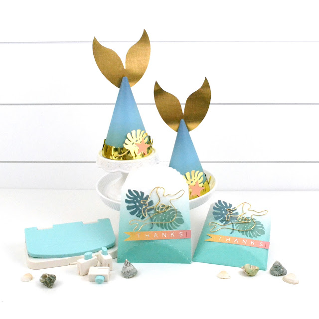 DIY Mermaid Party Ideas by Aly Dosdall with We R Memory Keepers Punch Boards and Tools