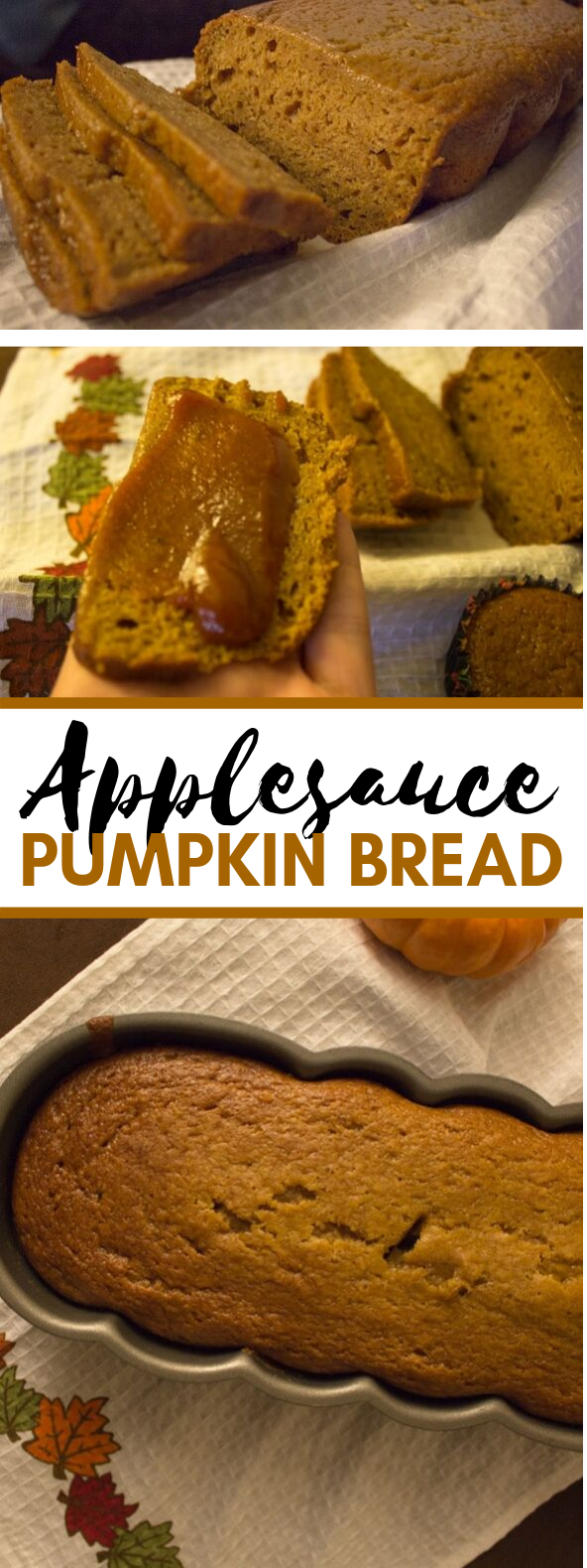 Applesauce pumpkin bread #familydinner #meals
