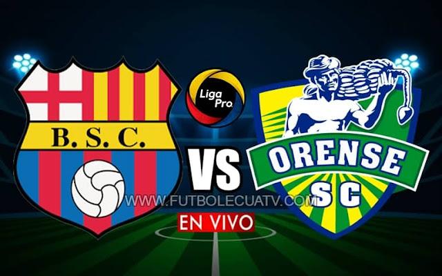 Barcelona SC recibe a Orense en vivo por el reinicio de la fecha cinco, siendo emitido por el canal GolTV Ecuador a partir de las 19:15 en el Estadio Monumental por el campeonato ecuatoriano. Siendo el juez principal Augusto Aragón.