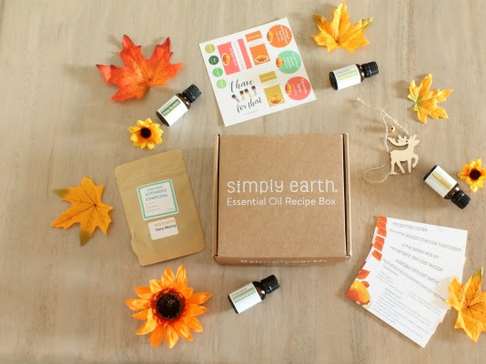 Simply Earth November Essential Oil Recipe Box + Coupon