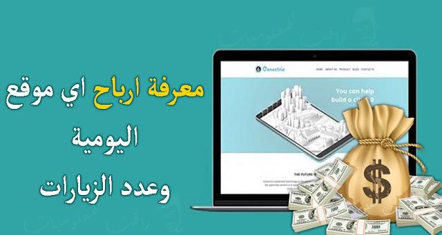 معرفة ارباح المواقع