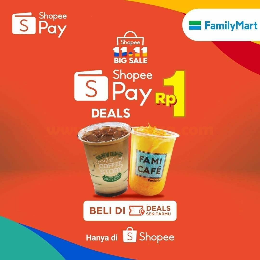 Promo Family Mart Beli Voucher Diskon ShopeePay hanya Rp 1,-