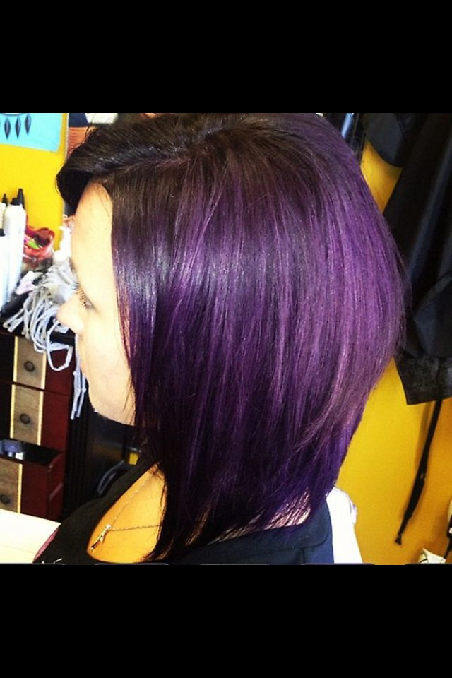 Astounding Black Amp Purple Hairstyles A Gorgeous Combination Hairstyles For Women Draintrainus