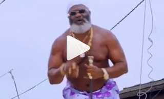 VIDEO: Old Nollywood Actor Harry B turns rapper, drops new music video