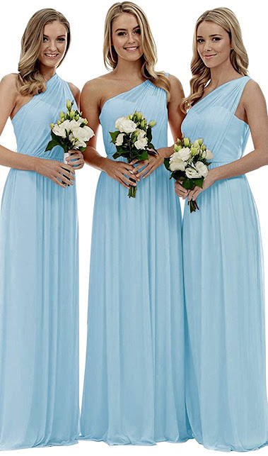 Cheap Blue Chiffon Bridesmaid Dresses