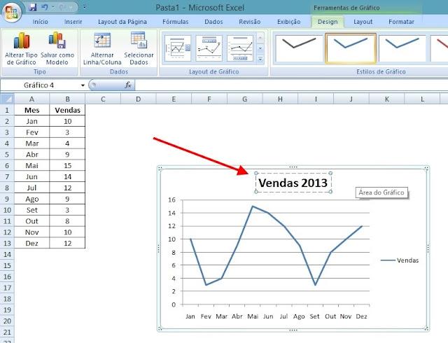 Grafico Excel - Alterar Titulo