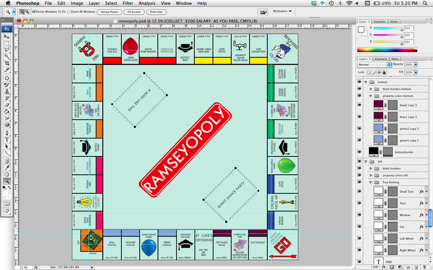 How to how hard and how much how to make a personalized for Custom monopoly board template