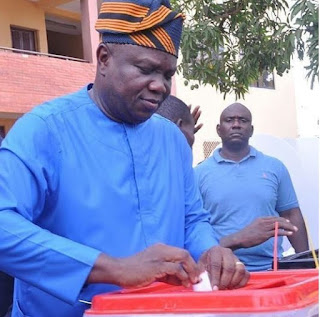 Governor Ambode voted