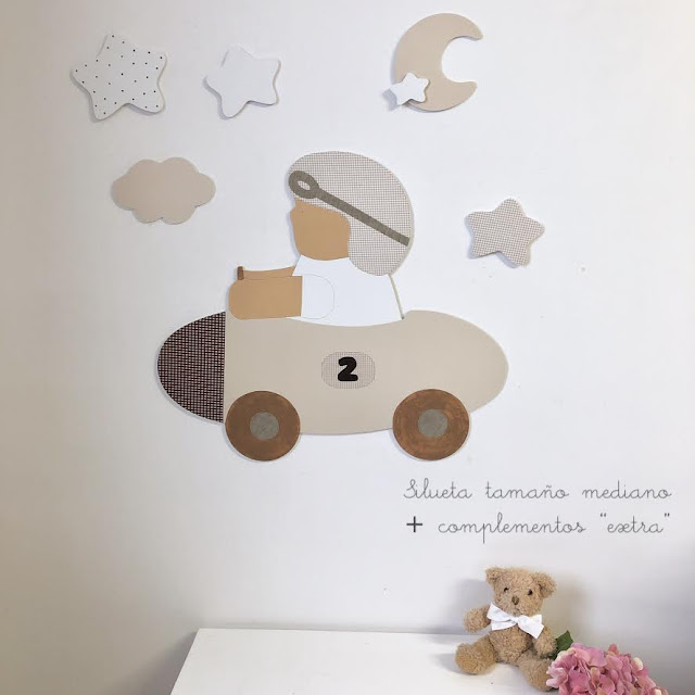 Ideas para  Decorar una pared infantil con siluetas